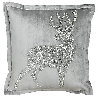 Riva Paoletti Wonderland Prancer Christmas Cushion Cover