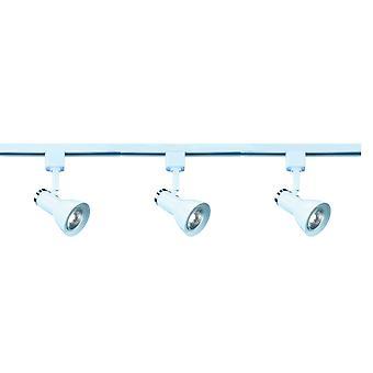 Plek en Track wit en chroom één Spotlight - zoeklicht 3709WH
