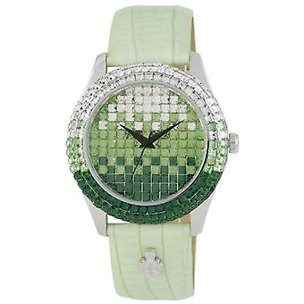 Burgmeister BMY01-190-wristwatch, leather, color: Green