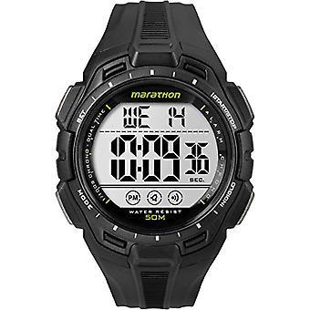 Timex TW5K94800 rannekellon, digitaalinen Dial hartsi bändi, musta/musta