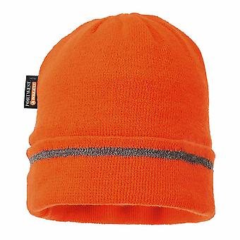 sUw - reflexivo recortar Knit Hat Insulatex forrado naranja Regular