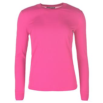 Campri Womens Thermal Top Lightweight Baselayer Elastic Long Sleeve Crew Neck