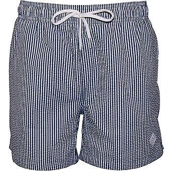 Gant Seersucker zwemmen korte broeken, Perzisch blauw