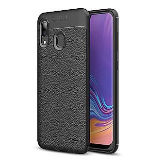 Samsung Galaxy A40 TPU-Shell Litchi Grano
