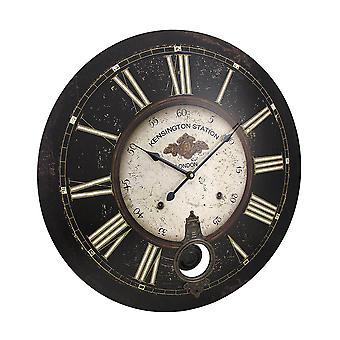 Klok van de muur van de slinger van de Kensington Station van het Diameter van 23 inch