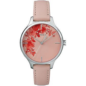 Timex damer se crystal blomst 36 mm Lær armbånd TW2R66600