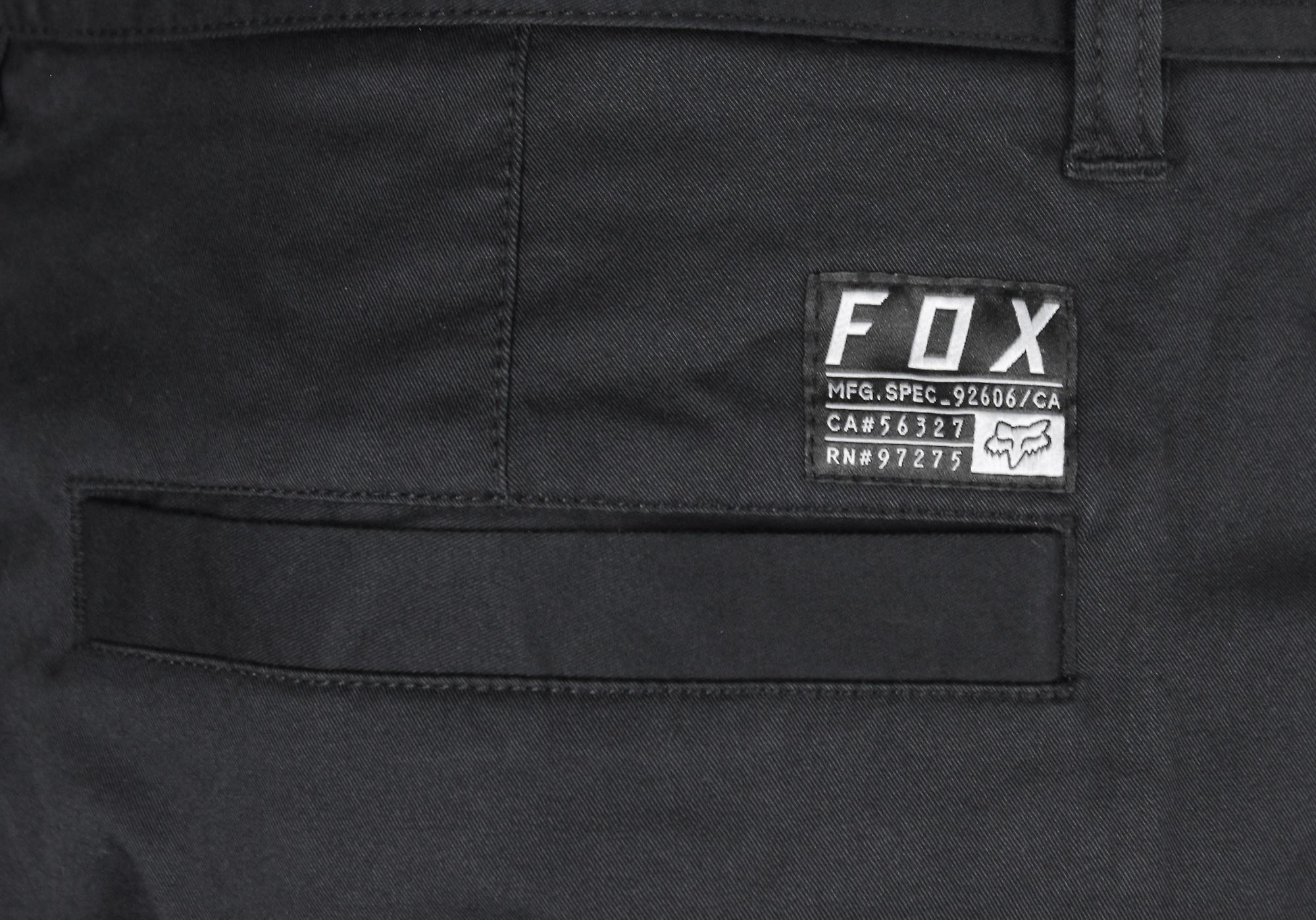 Fox racing menns stretch Chino shorts-svart