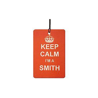 Zachowaj spokój I 'm Smith samochodowa zawieszka zapachowa