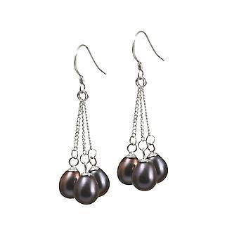 Wieczne kolekcji Japonica Teardrop Paw FW perłowe srebro Drop kolczyki Kolczyki