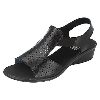 Ladies Down To Earth Casual Wedge Sandals