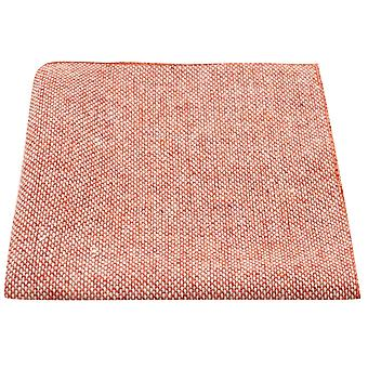 Highland Weave Stonewashed Brick Red Pocket Square, Handkerchief