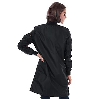 Womens Alpha Industries MA1 TT Coat in black.