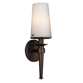 Philips Pronóstico F542770E1 1-Light Baño Antorcha Pared Sonce Lámpara Merlot Bronce