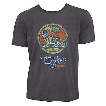 Tiger Beer Vintage Logo Gray Tee Shirt