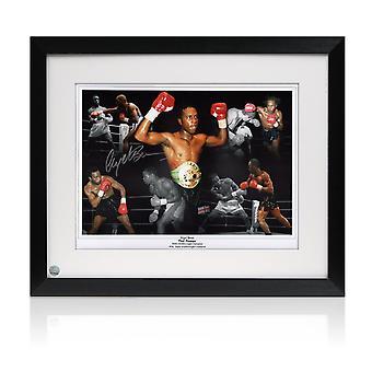 奈杰尔·本签署拳击照片:黑暗毁灭者。陷害