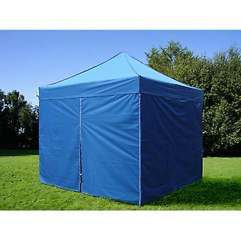 Faltzelt FleXtents PRO 3x3m Blau, mit 4 Seitenwänden