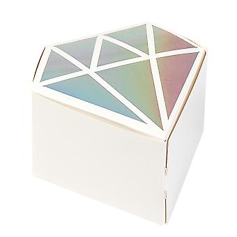 24 Diamond Shaped Party or Wedding Favour Boxes