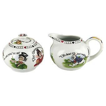Cardew Alice im Wunderland 7.25 oz Sugar Bowl und Creamer Set