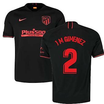 2019-2020 Atletico Madryt Poza Nike Football Shirt (J M Gimenez 2)