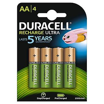 Duracell AA 2400 mAh STAY CHARGED Rechargeable Batteries Various Quantities