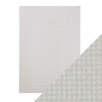 Tonic Studios Craft Perfect A4 Luxury Embossed Card, Steel Diamonds, 30 x 21.5 x 0.5 cm