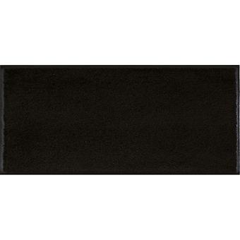 wash+dry Minimatte Raven black mit Rand Schuhablage Stufenmatte waschbare Fußmatte