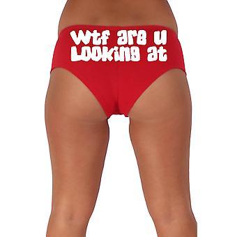 Mujeres's Blanco ¿Qué estás mirando a 2 pantalones cortos de botín