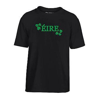 T-shirt bambino nero dec0073 eire irlanda