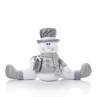 Christmas Shop stående/sitter snømann dekorasjon
