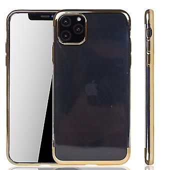 Funda de teléfono para Apple iPhone 11 Pro Gold - Transparente - TPU Caso de silicona Backcover Protective Case en transparente / Shiny Edge Gold