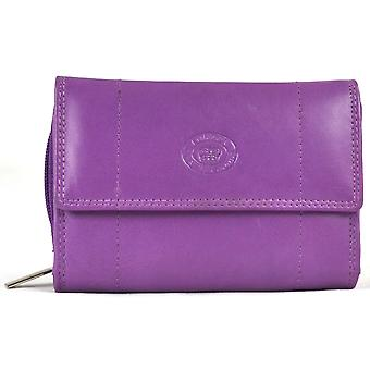 Nappa Leather Zip-Around Purse - Lilac
