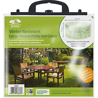 Aidapt grote ronde terrasset hoes waterdicht - groen