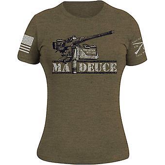 Grunt Style Women's Ma Deuce T-Shirt - Military Green