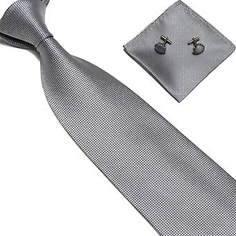 Costume Accessories | Tie + handkerchief + cufflinks-Grey