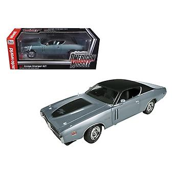 1971 Dodge Charger R/T Hemi (GA4) Gunmetal Grey Limited to 1250pc 1/18 Diecast Model Car by Autoworld
