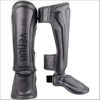 Venum elite shin guards grey/grey