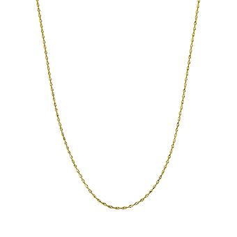 14k Yellow Gold Dorica Chain Ankle Bracelet 2.1mm Lobster Claw Closure 10 Inch Jewelry Gifts for Women