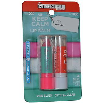 Rimmel London holde ro og Lip Balm Lip Balm Duo Pack 3.7g rosa rødme og 3,7 g Crystal Clear