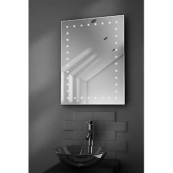 Inca Shaver LED Bathroom Mirror With Demister Pad & Sensor k167
