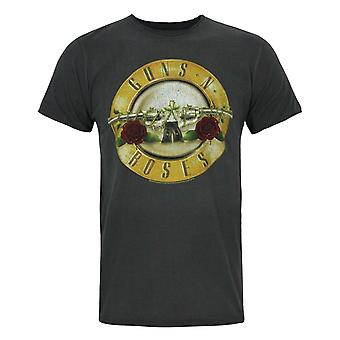 Förstärkt Guns N Roses trumma mäns T-Shirt