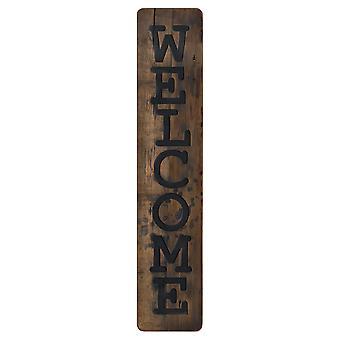 Willkommen rustikale Holz Nachricht Plaque