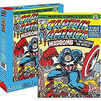 Puzzle - Marvel - Captain America Cover 500pc New Licensed 62161