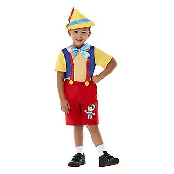 Niños pequeños Puppet Boy Pinocchio traje de vestir de fantasía