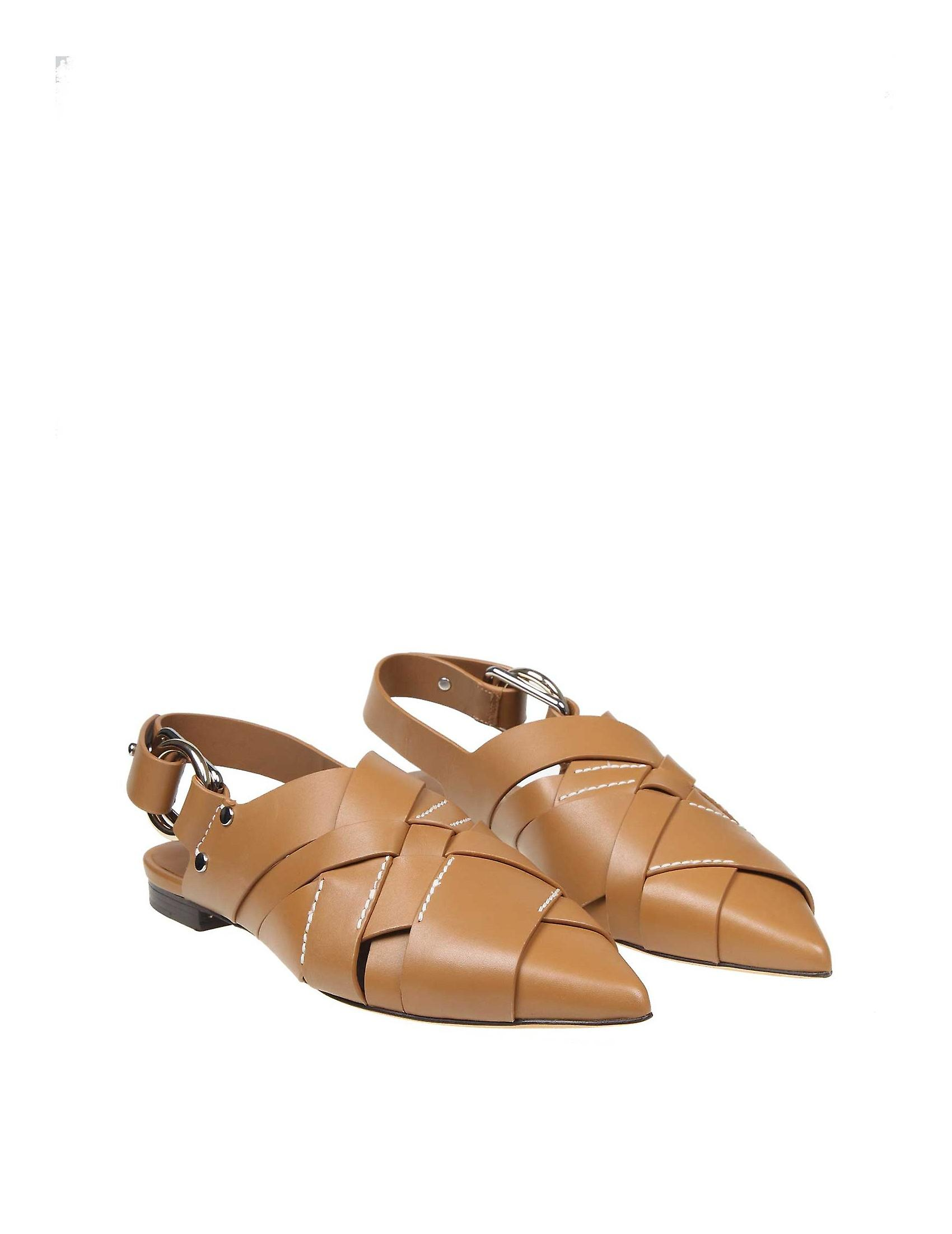 3.1 Phillip Lim Sse0t681jarca250 Women's Brown Leather Slippers