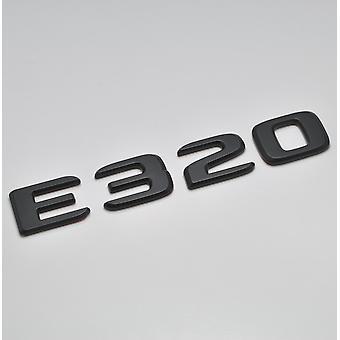 Matt Black E320 Flat Mercedes Benz Car Model Rear Boot Number Letter Sticker Decal Badge Emblem For E Class W210 W211 W212 C207/A207 W213 AMG