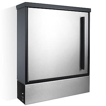 MOCAVI Box 102 ZF 1 VA boîte aux lettres en acier inoxydable / anthracite (RAL 7016) avec compartiment à journaux peut être installé séparément