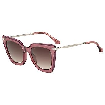 Jimmy Choo Ciara/G/S S5R/HA Burgundy Glitter/Brown Gradient Solglasögon