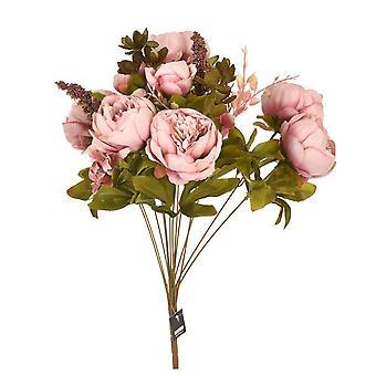 Künstliche Blumen Blumenstrauß Pfingstrosen alt rosa