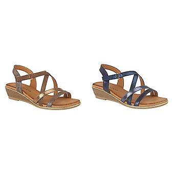 Cipriata Womens/Mesdames Alessia Crossover Strap Sandals