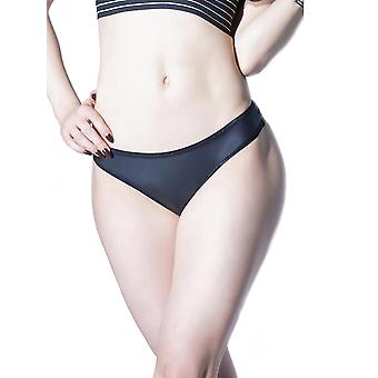 Womens Matte Wet Look Low Rise Classic Thong Underwear